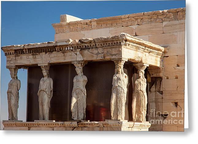Acropolis Caryatids Greeting Card