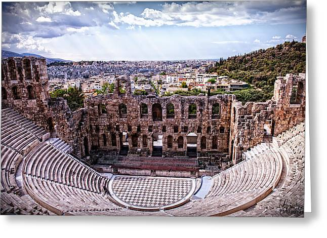 Greeting Card featuring the photograph Acropolis by Linda Constant