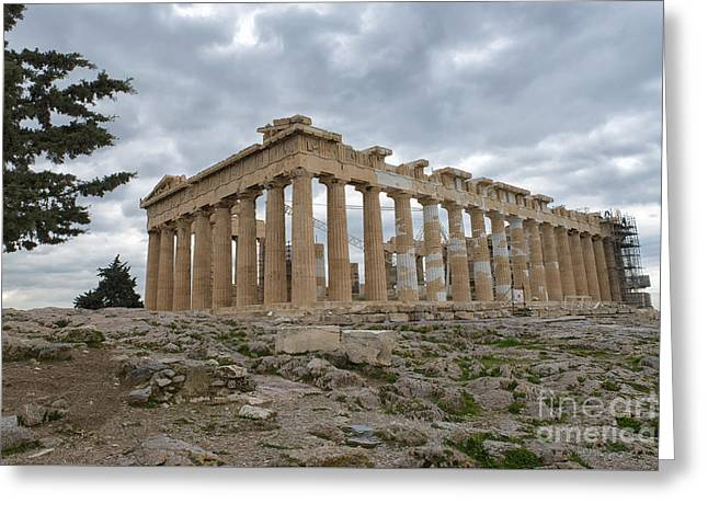 Acropolis Of Athens, Greece Greeting Card by Ivan Batinic