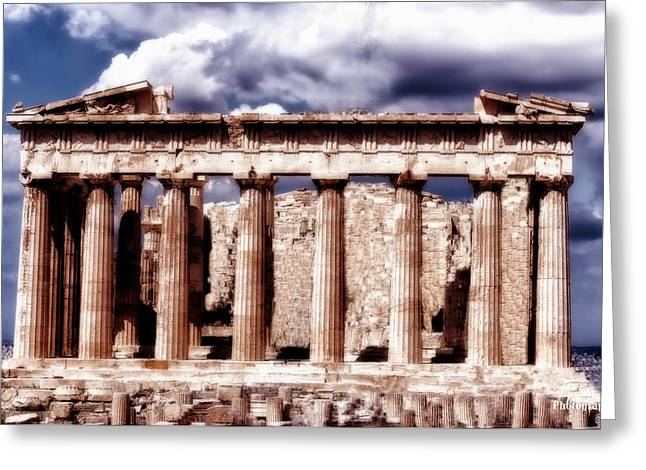 Greeting Card featuring the photograph Acropolis Of Greece by Linda Constant