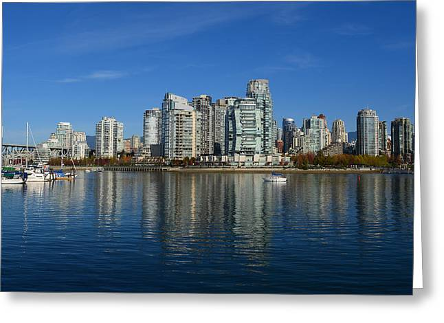 Across False Creek Greeting Card