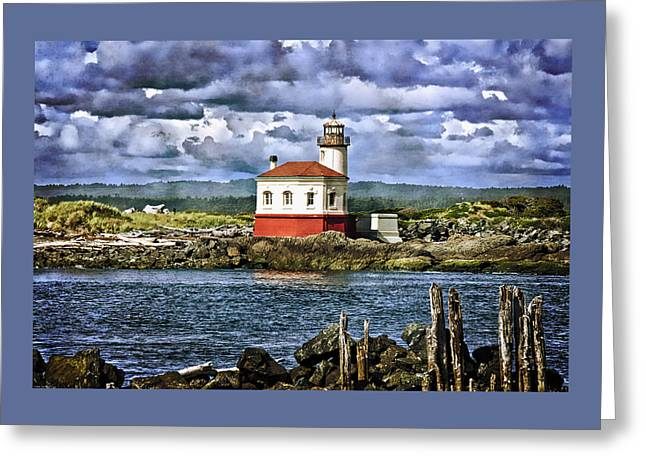 Across From The Coquille River Lighthouse Greeting Card by Thom Zehrfeld