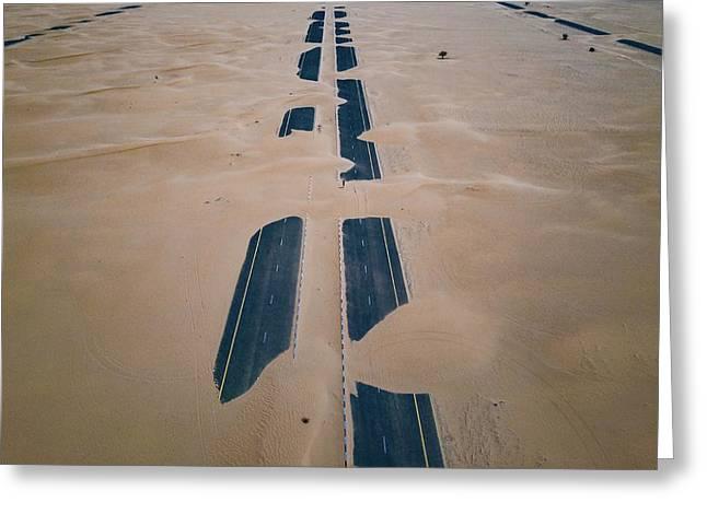 Greeting Card featuring the photograph Across Sahara by Johannes Schwaerzler