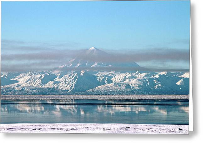 Snow. Ocean Greeting Cards - Across The Bay Greeting Card by Rick  Monyahan