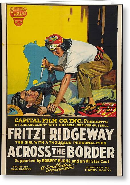 Across The Border 1920 Greeting Card