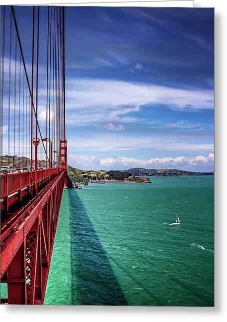 Across The Golden Gate Bridge San Francisco Greeting Card