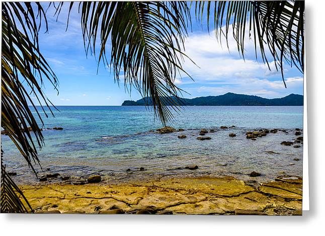 Across The Islands Greeting Card by Michael Scott