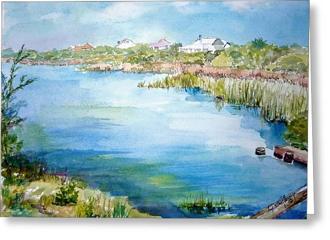 Across The Lake Greeting Card by Dorothy Herron