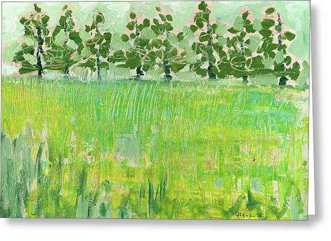 Across The Meadow Greeting Card by Jennifer Lommers