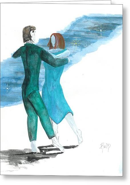 Across The Night... Greeting Card by Robert Meszaros