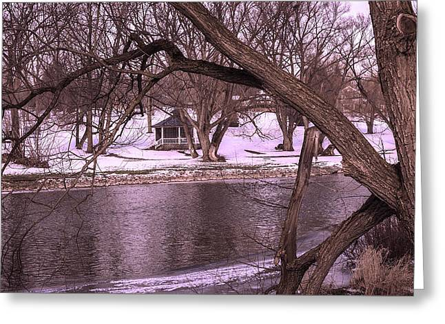 Across The River Greeting Card by Anne Witmer