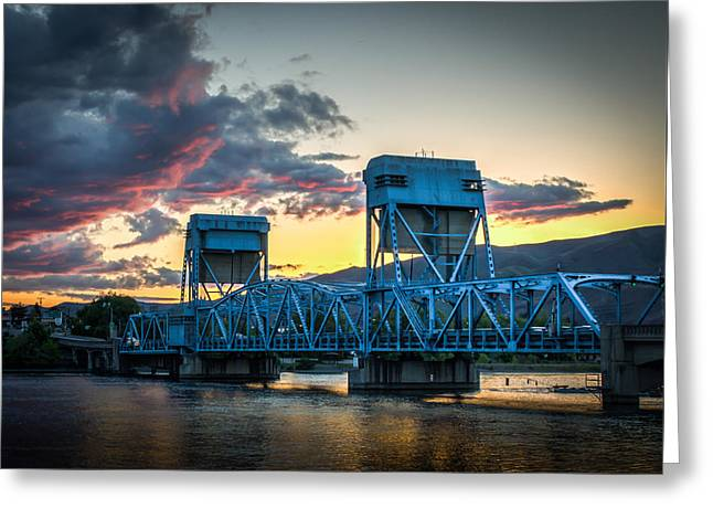 Across The River Greeting Card by Brad Stinson