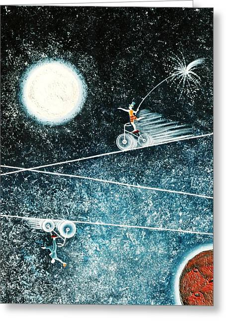 Across The Universe Greeting Card by Graciela Bello