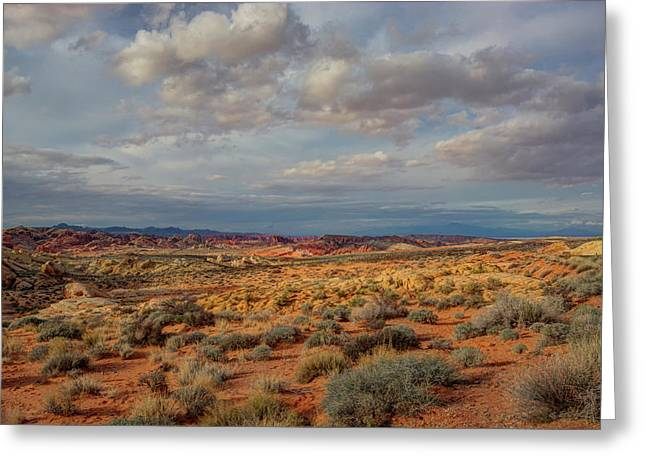 Across The Valley Of Fire, Nevada Greeting Card