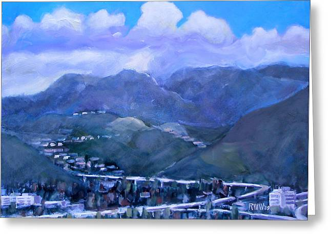 Across The Verdugo Hills Greeting Card by Richard  Willson