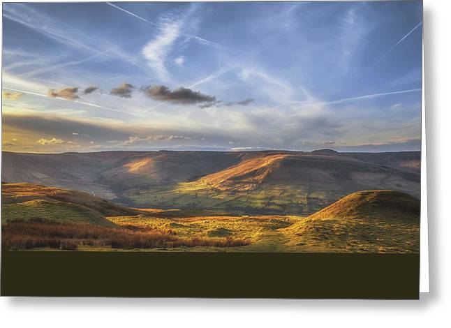 Across To Edale Greeting Card by Chris Fletcher