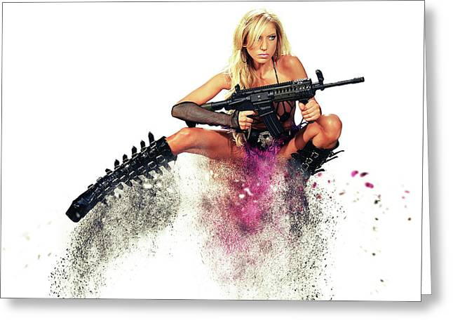 Action Girl Greeting Card