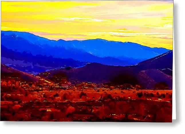 Acton California Sunset Greeting Card