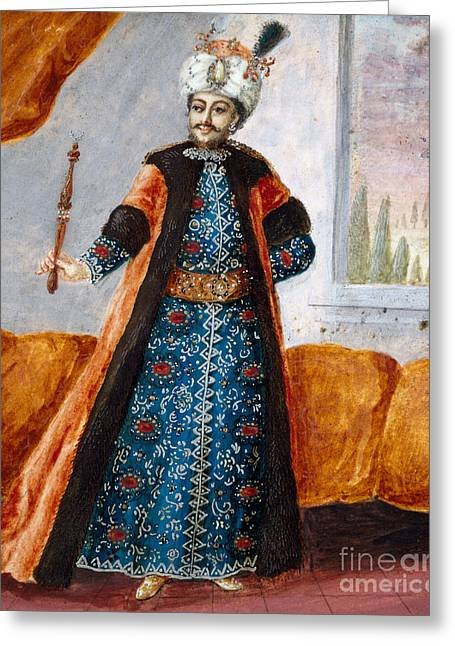 Actor In Oriental Costume In Role Of Suleiman Greeting Card