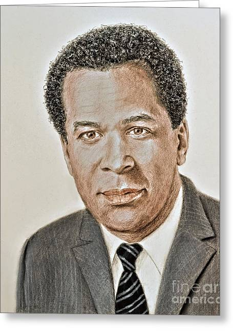 Actor, Songwriter, Singer And Pastor Clifton Davis Greeting Card
