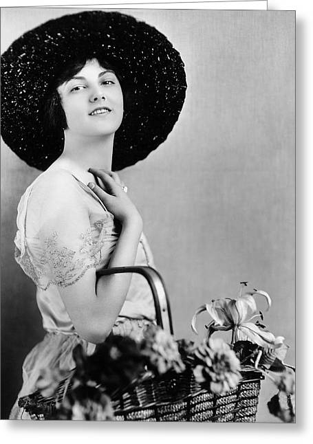 Actress Barbara Bedford Greeting Card by Underwood Archives