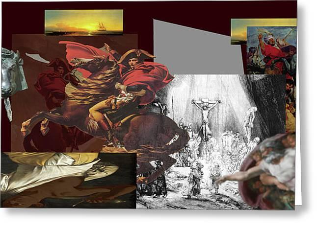 Greeting Card featuring the digital art Acts Of War by David Bridburg