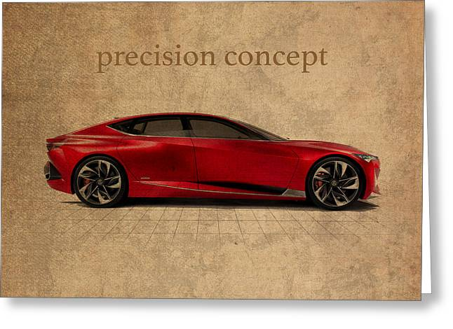 Acura Precision Concept Art Greeting Card