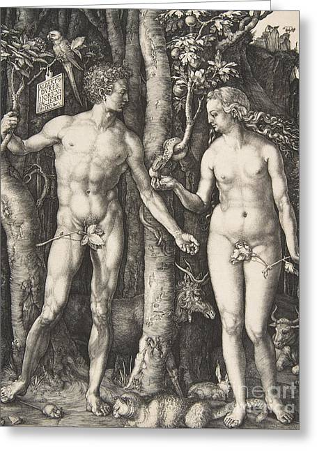 Adam And Eve, 1504  Greeting Card