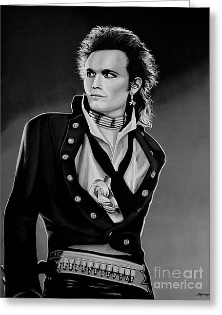 Adam Ant Painting Greeting Card