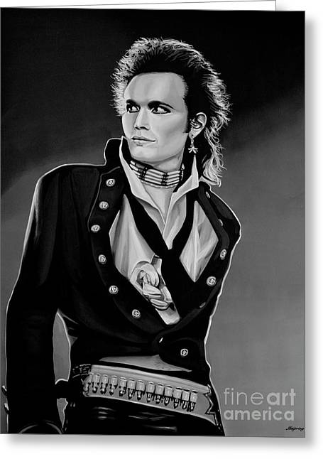 Adam Ant Painting Greeting Card by Paul Meijering
