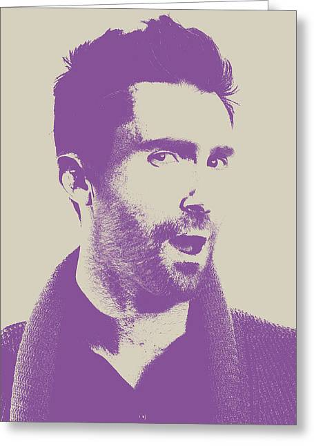 Adam Levine Maroon 5 Vector Pop Art Portrait Greeting Card by Design Turnpike