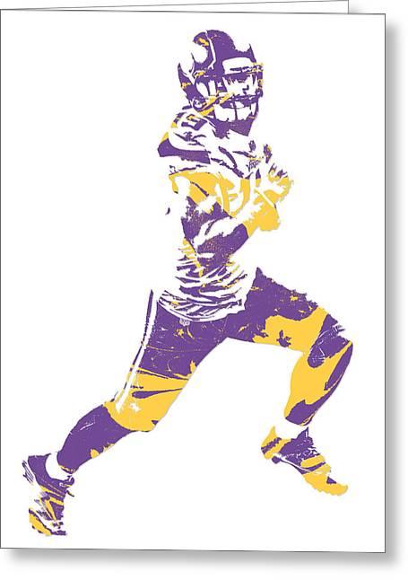 Adam Thielen Minnesota Vikings Pixel Art 3 Greeting Card