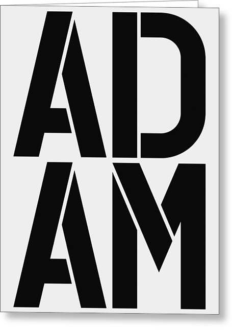 Adam Greeting Card by Three Dots