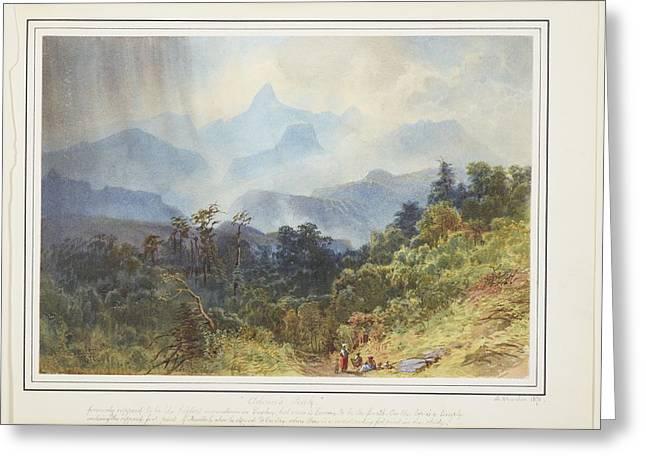 Adams Peak, Ceylon, 1870, By Nicholas Chevalier. Greeting Card by Celestial Images