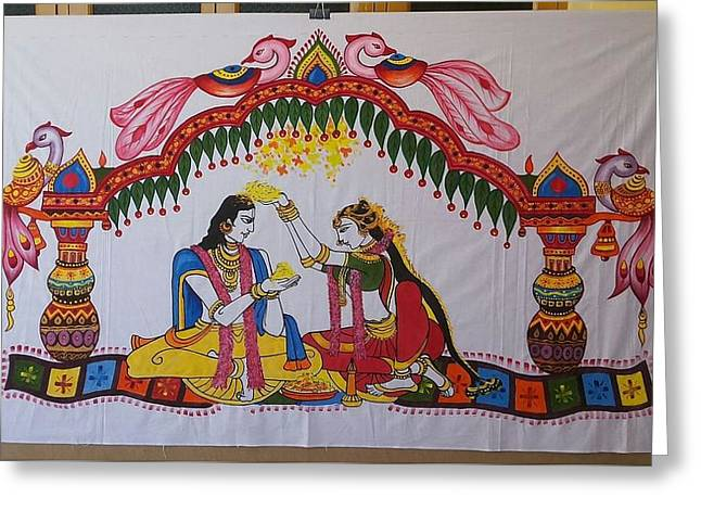 Addutara-marrege-curtain Greeting Card by Venkat Meruvu