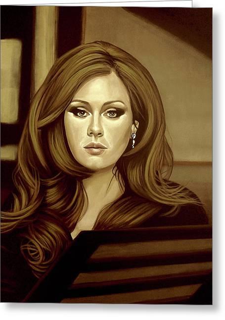 Adele Gold Greeting Card