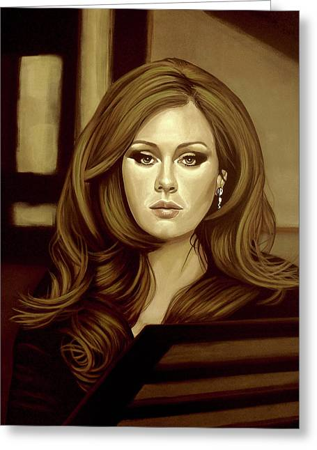 Adele Gold Greeting Card by Paul Meijering