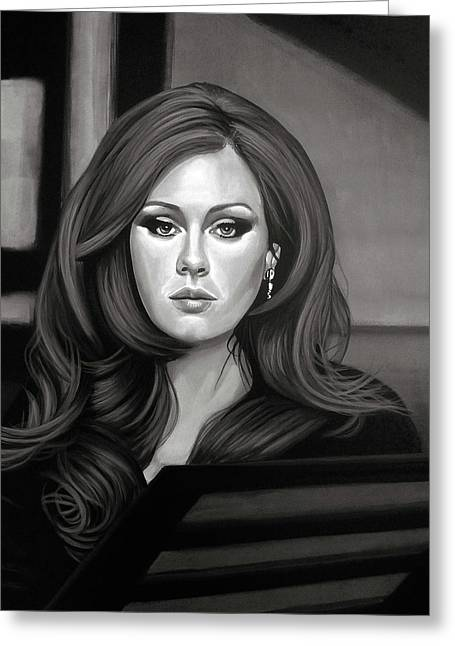 Adele Mixed Media Greeting Card
