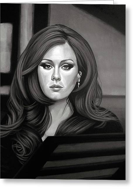 Adele Mixed Media Greeting Card by Paul Meijering