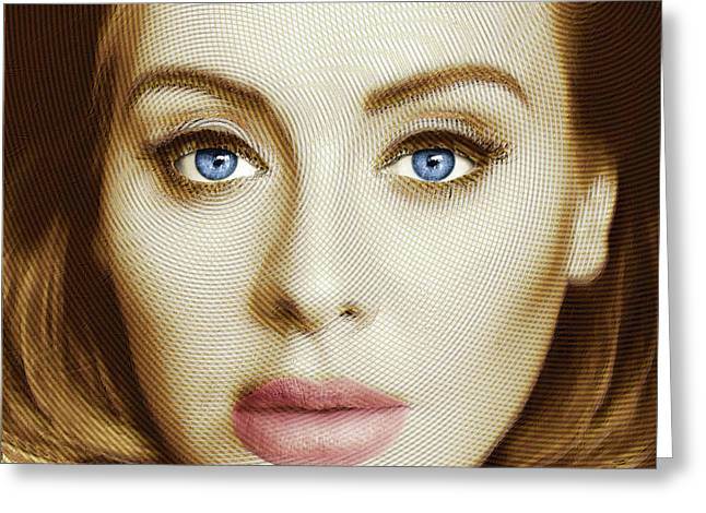 Adele Painting Circle Pattern 2 Greeting Card by Tony Rubino