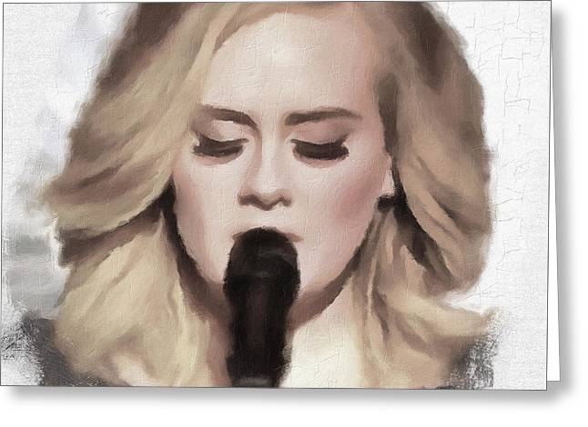 Adele Portrait Hello Greeting Card