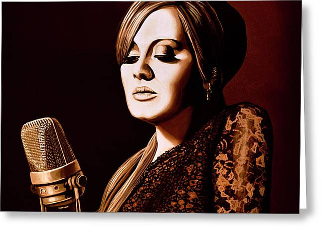 Adele Skyfall Gold Greeting Card