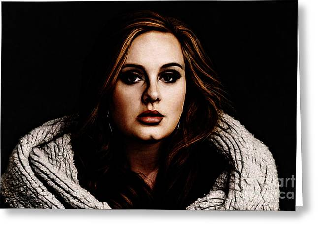 Adele Greeting Card by The DigArtisT