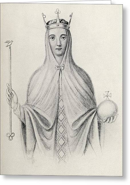 Adeliza Of Leuven Also Called Adela And Greeting Card by Vintage Design Pics
