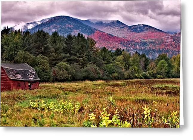 Adirondack Barn Greeting Card by Brad Hoyt