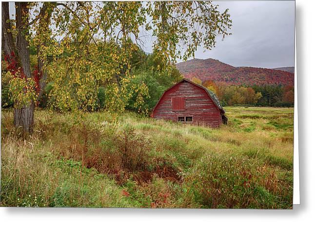 Adirondack Barn In Autumn Greeting Card