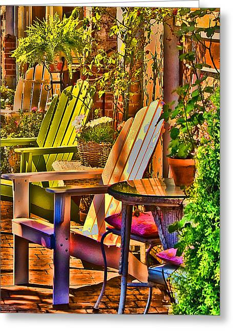 Adirondack Chairs Greeting Card