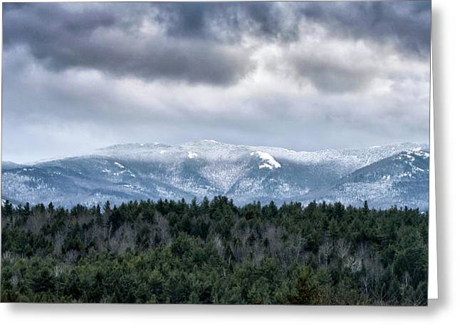 Greeting Card featuring the photograph Adirondack High Peaks During Winter - New York by Brendan Reals