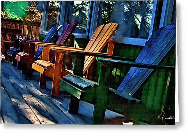 Adirondack Greeting Card by Monte Arnold