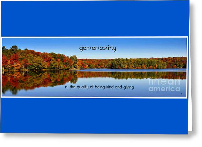 Adirondack October Generosity Greeting Card by Diane E Berry